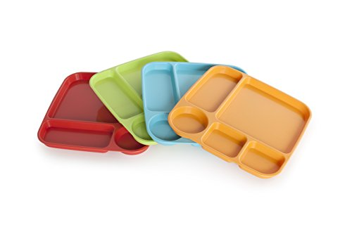 - Nordic Ware 60155 Lightweight Party Tray, High-Heat Plastic, Assorted, 4 Piece, Fiesta Colors