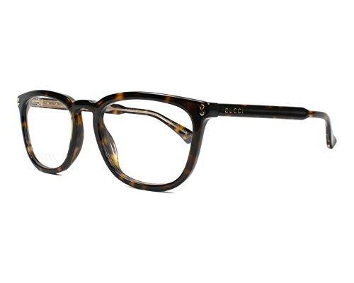 Gucci frame (GG-0126-O 007) Acetate Dark Havana - Transparent Crystal (Gucci Brille Frames Für Frauen)