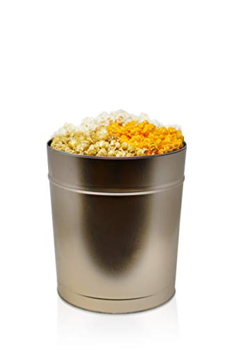 The Classics Gourmet Popcorn Tin: Indulge in Cheese, Caramel, and Kettle Korn | Handcrafted to Order | Perfect for Movie Nights, Care Packages, and Gift Packages (3.5 Gallon Gold) ()