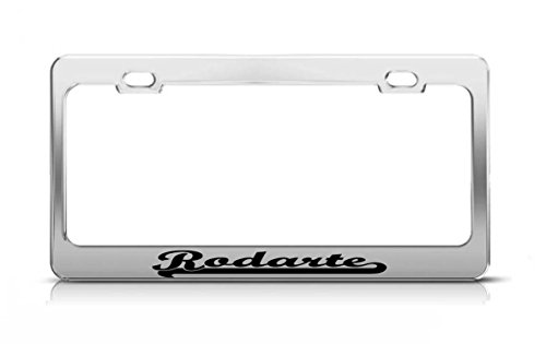 rodarte-last-name-ancestry-metal-chrome-tag-holder-license-plate-cover-frame