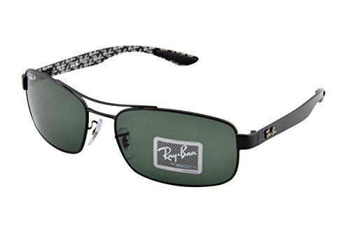 Ray-Ban Rb8316 Rectangular Sunglasses,Black,62 mm