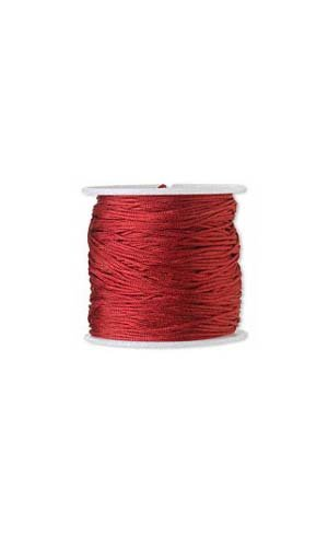 (100 Feet of 1mm Imitation Silk Beading Cord~Macrame Cording for Beads & Jewelry (Red) )