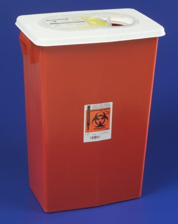 PT# 8998 Container Sharps Large Red 18gal Ea by, Kendall Company ()