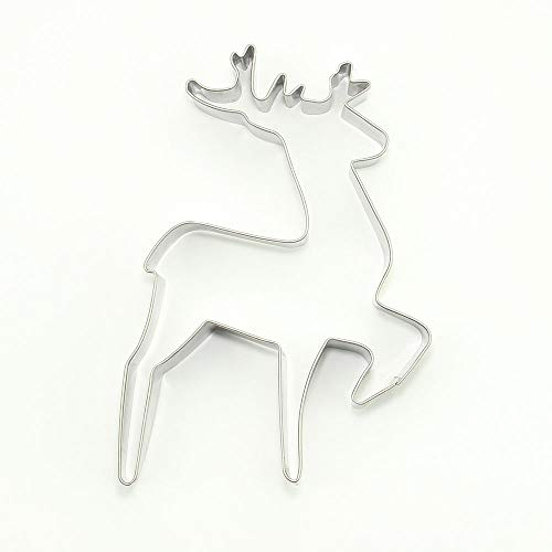 1 Pieces Metal Biscuit Cookie Cutter Pastry Fondant Gingerbread Cake Mold Y3NT6 Christmas Xmas Deer Sika