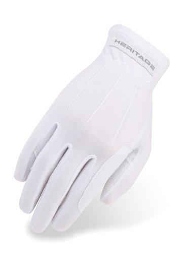 (Heritage Power Grip Gloves, Size 9/10, White)