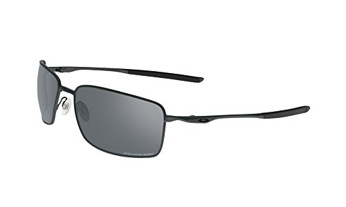 Oakley Square Wire Sunglasses Carbon/Grey Polarized & Cleaning Kit ()