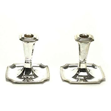 1847 Rogers Legacy by, Silverplate Candlestick Pair