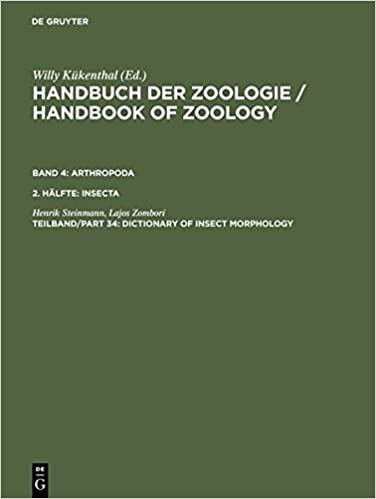 Handbook of Zoology: Dictionary of Insect Morphology v. 4, Pt.34: A Natural History of the Phyla of the Animal Kingdom: Insecta: Dictionary of Insect Morphology Vol 4 pt.34