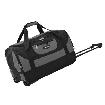Travelers Club Luggage Adventure 20 Inch Multi-Pocket Sports Rolling Duffel, Gray, One Size