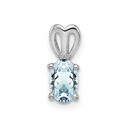 925 Sterling Silver Blue Aquamarine Pendant Charm Necklace Birthstone March Set Fine Jewelry For Women Gift -