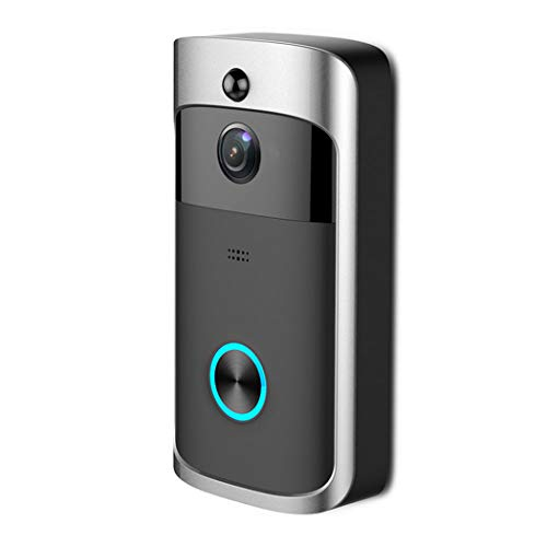 GAIBO Wireless Video Doorbell 720P HD Camera, Phone Intercom System Real-Time Video Two-Way Talk Night Vision, for Villa Home Office Apartment,Black
