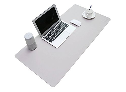 BUBM PU Leather Mouse Pad Mat Waterproof, Perfect Desk Writing Mat for Office and Home,Ultra Thin 2mm - 31.5
