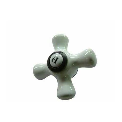 Hot Porcelain Cross Handle (Kingston Brass KBH1605PXH Hot Porcelain Cross Handle, Porcelain)