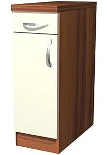 Küchen Unterschrank 40 cm Creme Matt - Sienna: Amazon.de: Küche ...