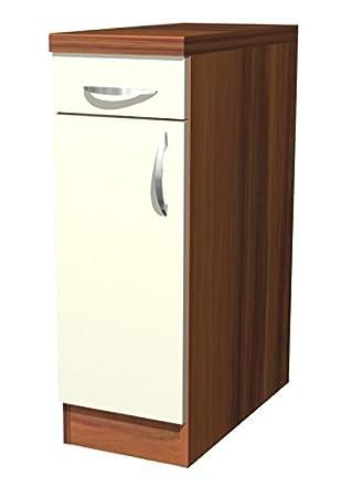 Küchen Unterschrank 30 cm Creme Matt - Sienna: Amazon.de: Küche ...