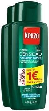 KERZO CHAMPU ANTICAIDA DENSIDAD 2x400ML: Amazon.es: Belleza