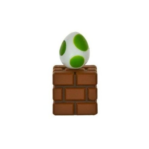 Nintendo Super Mario Bros Wii Edition 1.6 inch Egg Green on Brick Block - Choco Egg - Japanese Import Mini Figure