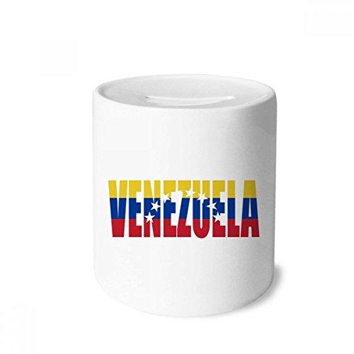 DIYthinker Venezuela Country Flag Name Money Box Saving Banks Ceramic Coin Case Kids Adults