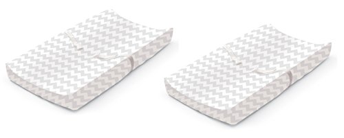 Summer Infant Ultra Plush Changing Pad Cover, Chevron, 2 Count