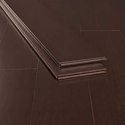 Ambient Bamboo - Bamboo Flooring Sample, Color: Java, Solid Strand Tongue and Groove