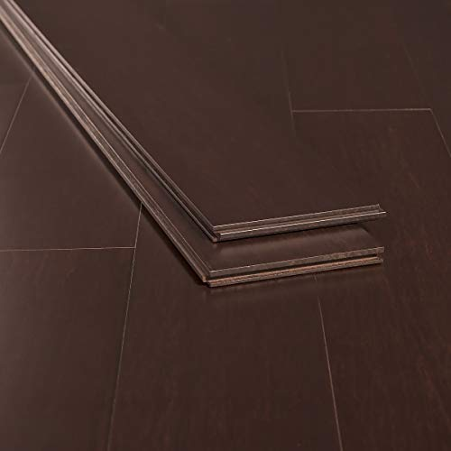boo Flooring Sample, Color: Java, Solid Strand Tongue and Groove ()