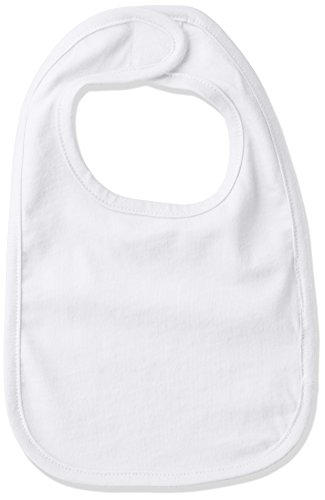 Clementine Baby New Born Velcro Jersey Bib, White OS