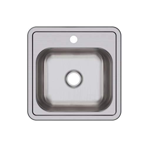1 Hole Bar Sink - Elkay D115151 Dayton Single Bowl Drop-in Stainless Steel Bar Sink