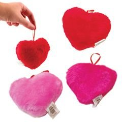 Assorted Color Plush Hanging Heart -