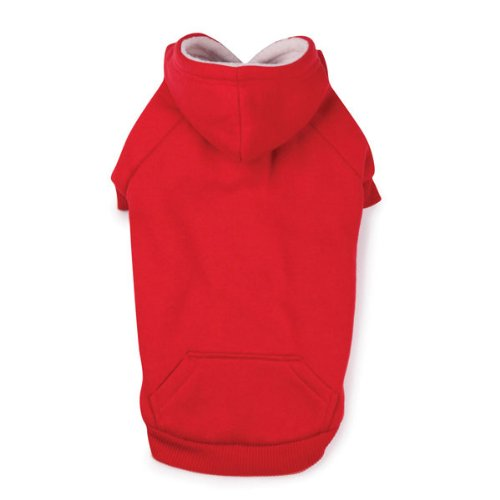 Zack and Zoey Polyester Fleece Lined Dog Hoodie, Small, Tomato Red, My Pet Supplies