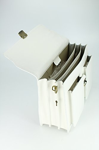 sac design bianco x 14 Bianco au case main en Belli à h 30 unisexe cm étui choix attaché l p x «b» x couleur x 40 cuir ® wdUptq