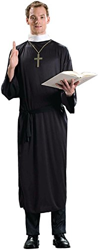 Priest Plus Size Adult Mens Costumes (Forum Novelties Men's Plus-Size Priest Plus Size Costume, Black, Plus)