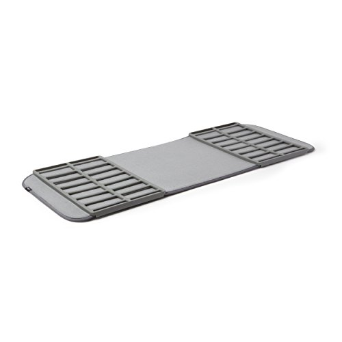 Umbra ShoeDry, Machine-Washable Multipurpose Drying Mat and Boot Tray for Entryway, Charcoal