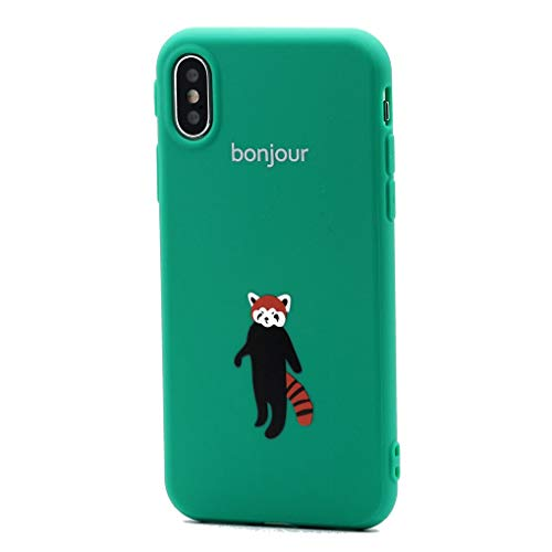 (Keyihan iPhone X / 10 Case Cover Cute Cartoon Pattern Soft Flexible TPU Silicone Rubber Shockproof Full Protective Bumper Skin Slim Fit for Apple iPhone X 5.8