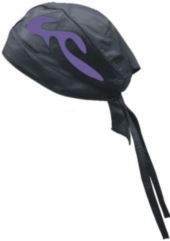 Unisex Adult AL3235 Skull cap One Size Black/Purple