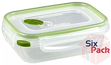 Sterilite Corp. Rectangle Ultra Seal, Size 3.1 Cup, Pack of 6