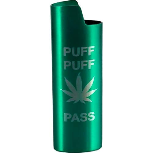 Puff Puff Pass Lighter Cover Metal(MANY COLORS)