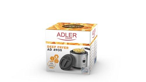 adler AD 4905 Freidora, 1,5 litros 1000 W, 0 Decibeles, Plateado: Amazon.es: Hogar