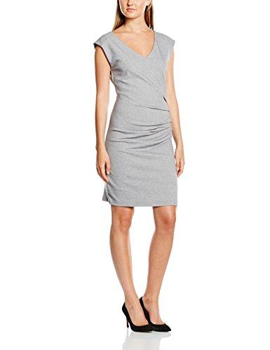 Kaffe India V-neck - Vestido para mujer Grau (Grey melange 50015)