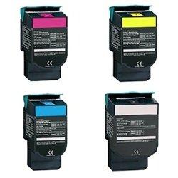 (Replacement Lexmark C540N Set of 4 Laser Toner Cartridges (1 Black, 1 Cyan, 1 Magenta, 1 Yellow))