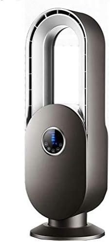Ventilateur sans feuilles vertical à télécommande, conception silencieuse, personnalisation / réservation 15H, économie d'électricité et inquiétude, adapté pour chambre / bureau / bureau - Argent