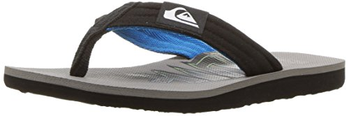 Quiksilver Youth Molokai Layback (Little Big Kid) Sandal, Black/Blue/Grey, 9(26) M US Toddler (Boardshort Boys Toddler)