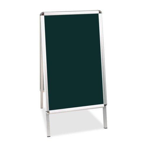 Bi-silque Black Wet-Erase Display Boards-Wet-Erase Sign Board,Reversible,24''x41'',BLK/Aluminum