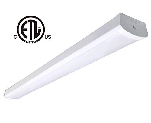 (48W Linkable LED Wraparound Flushmount Light 4ft,led Shop Light,4800Lumens 5000K, cETL-Listed Certified,LED Wrap Light,LED Linear Indoor Lights,LED Puff Light,LED Ceiling Light,50K1pk)