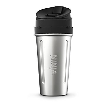 Original Ninja 24oz Stainless Steel Nutri Ninja Cup for BL492 Auto-iQ Compact System Complete Blender