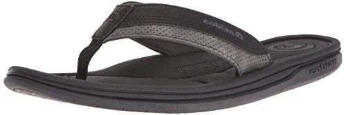 Cobian Eva Sole Sandals - Cobian Men's bolster Archy Flip-Flop, Black, 10 M US