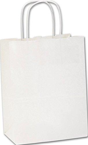 EGP Kraft Paper Shoppers Cub, 8 1/4 x 4 1/4 x 10 3/4, (White-Recycled), 250 Bags