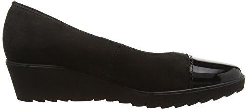 ara Marsala - zapatos de tacón cerrados de cuero mujer negro - Schwarz (schwarz -01)