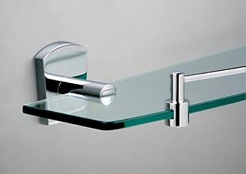 Superb Miller Delphi Bathroom Glass Shelf With Guard Rail 6802C Download Free Architecture Designs Scobabritishbridgeorg