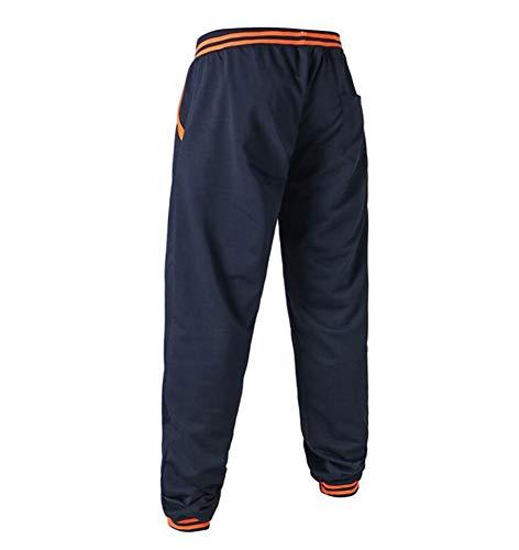 Marin Loisir Cordon Pour Homme Huateng Bleu Avec Élastique À De Jogging Taille Confortable Pantalon Décontractée 1EwA6