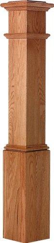 LJ-4092 Red Oak 7 1//2 X 53 1//2 Plain Box Newel